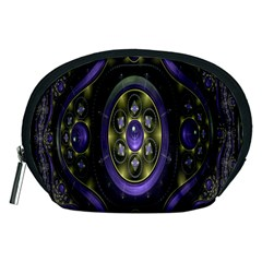 Fractal Sparkling Purple Abstract Accessory Pouches (medium)