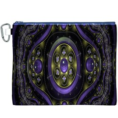 Fractal Sparkling Purple Abstract Canvas Cosmetic Bag (XXXL)