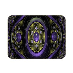 Fractal Sparkling Purple Abstract Double Sided Flano Blanket (mini)