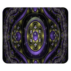 Fractal Sparkling Purple Abstract Double Sided Flano Blanket (small)