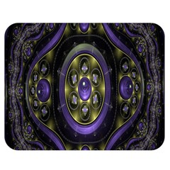 Fractal Sparkling Purple Abstract Double Sided Flano Blanket (Medium)