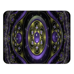 Fractal Sparkling Purple Abstract Double Sided Flano Blanket (large)