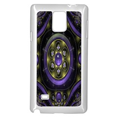 Fractal Sparkling Purple Abstract Samsung Galaxy Note 4 Case (white)