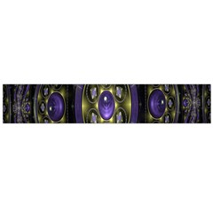 Fractal Sparkling Purple Abstract Flano Scarf (Large)