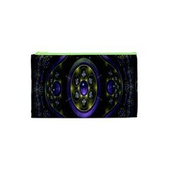 Fractal Sparkling Purple Abstract Cosmetic Bag (XS)