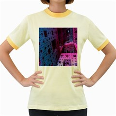 Fractals Geometry Graphic Women s Fitted Ringer T-Shirts