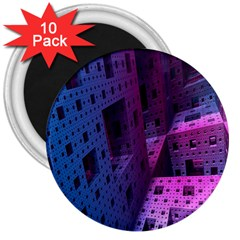 Fractals Geometry Graphic 3  Magnets (10 pack)