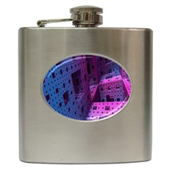 Fractals Geometry Graphic Hip Flask (6 oz)
