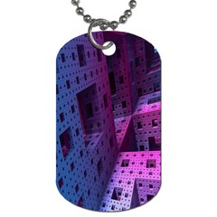 Fractals Geometry Graphic Dog Tag (Two Sides)