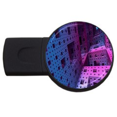 Fractals Geometry Graphic USB Flash Drive Round (4 GB)