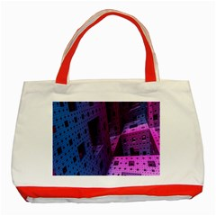 Fractals Geometry Graphic Classic Tote Bag (Red)