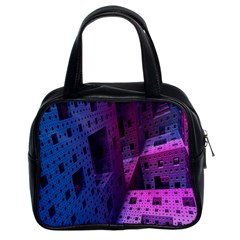 Fractals Geometry Graphic Classic Handbags (2 Sides)
