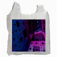 Fractals Geometry Graphic Recycle Bag (one Side)