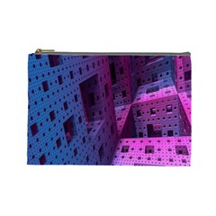 Fractals Geometry Graphic Cosmetic Bag (large)