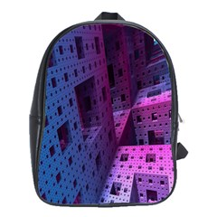Fractals Geometry Graphic School Bags(Large)