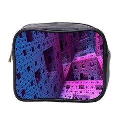 Fractals Geometry Graphic Mini Toiletries Bag 2-Side