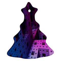 Fractals Geometry Graphic Christmas Tree Ornament (Two Sides)