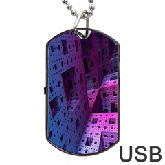 Fractals Geometry Graphic Dog Tag Usb Flash (one Side)