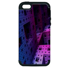 Fractals Geometry Graphic Apple iPhone 5 Hardshell Case (PC+Silicone)