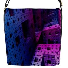 Fractals Geometry Graphic Flap Messenger Bag (s)