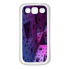 Fractals Geometry Graphic Samsung Galaxy S3 Back Case (white)