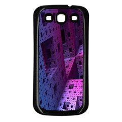 Fractals Geometry Graphic Samsung Galaxy S3 Back Case (black)