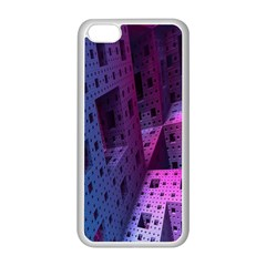 Fractals Geometry Graphic Apple Iphone 5c Seamless Case (white)