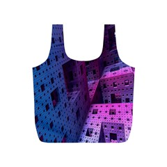 Fractals Geometry Graphic Full Print Recycle Bags (S)
