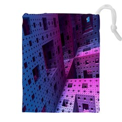 Fractals Geometry Graphic Drawstring Pouches (XXL)