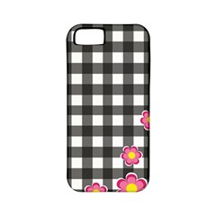 Floral Plaid Pattern Apple Iphone 5 Classic Hardshell Case (pc+silicone)