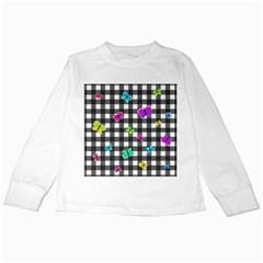 Butterflies pattern Kids Long Sleeve T-Shirts