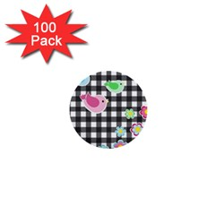 Cute spring pattern 1  Mini Buttons (100 pack)