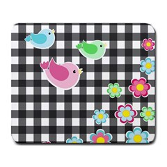 Cute spring pattern Large Mousepads