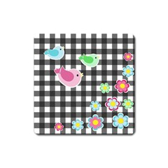 Cute spring pattern Square Magnet