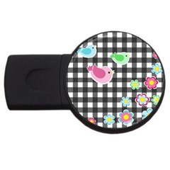 Cute spring pattern USB Flash Drive Round (2 GB)