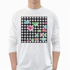 Cute spring pattern White Long Sleeve T-Shirts