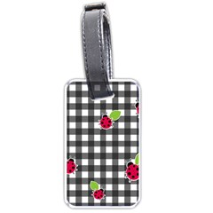 Ladybugs plaid pattern Luggage Tags (One Side)