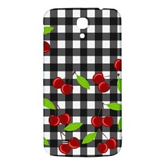 Cherries Plaid Pattern  Samsung Galaxy Mega I9200 Hardshell Back Case