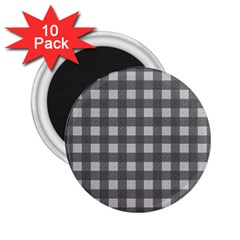 Gray plaid pattern 2.25  Magnets (10 pack)