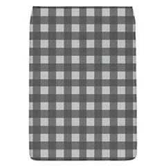 Gray Plaid Pattern Flap Covers (l)