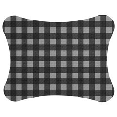 Gray plaid pattern Jigsaw Puzzle Photo Stand (Bow)