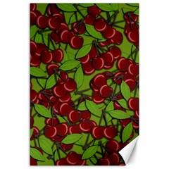 Cherry jammy pattern Canvas 24  x 36