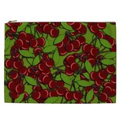 Cherry Jammy Pattern Cosmetic Bag (xxl)