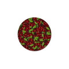 Cherry pattern Golf Ball Marker