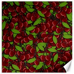 Cherry Pattern Canvas 12  X 12