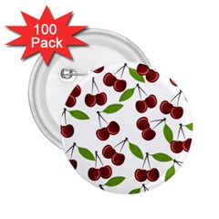 Cherry pattern 2.25  Buttons (100 pack)