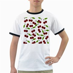 Cherry pattern Ringer T-Shirts