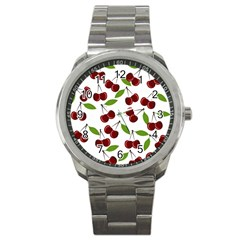 Cherry pattern Sport Metal Watch