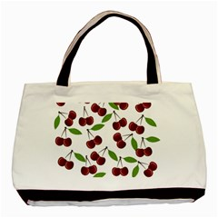 Cherry pattern Basic Tote Bag (Two Sides)