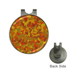 Orange autumn Hat Clips with Golf Markers